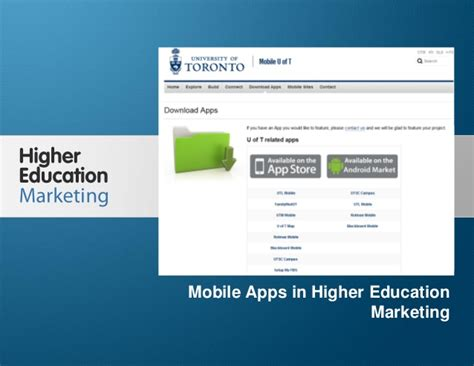 Marketing Education 1 by Mobile Apps In Higher Education Marketing