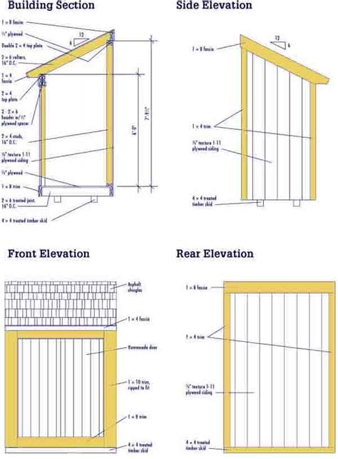 Diy Lean To Shed Plans Free