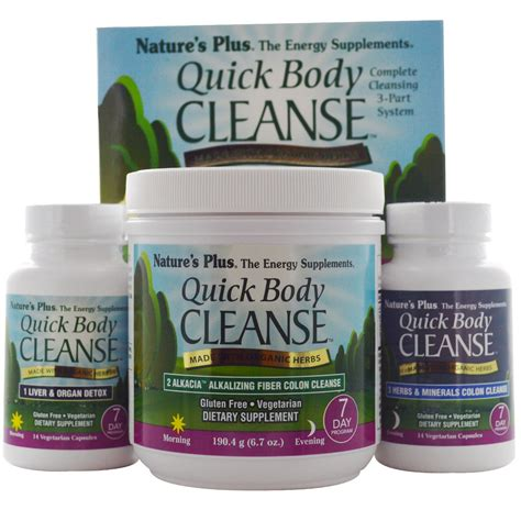 Best Detox Kits by Nature S Plus Cleanse 7 Day Program 3 Part