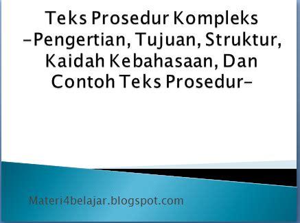 teks prosedur bahasa indonesia membuat kopi teks prosedur kompleks pengertian tujuan struktur