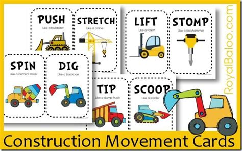 safety pin movement card template free construction movement cards royal baloo