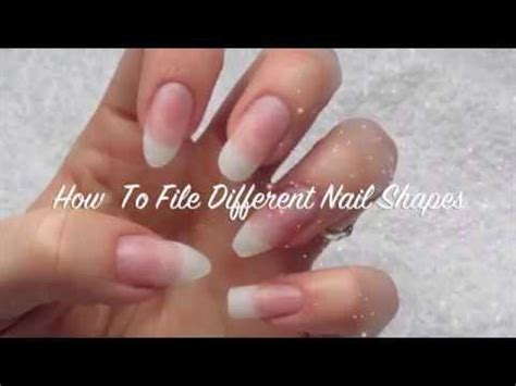 Nägel Formen by How To File Different Nail Shapes Almond Stiletto Coffin
