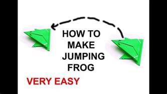 How To Make Origami Frog That Jumps - origami jumping frog how to make a paper frog that jumps