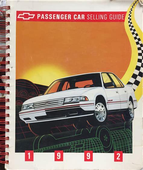 car repair manuals download 1992 chevrolet cavalier regenerative braking 1992 chevy cavalier repair shop manual original