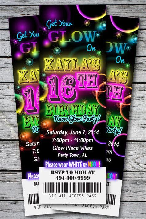 sweet  glow   dark theme neon disco birthday party
