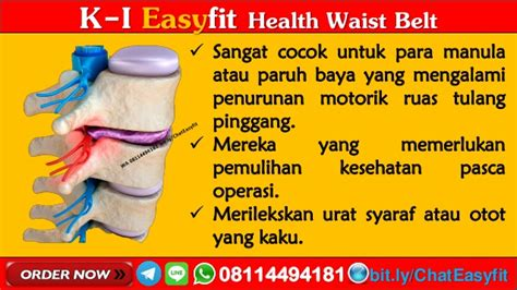 Terapi Syaraf Kejepit Di Pinggang Easyfit Waist Belt 1 wa 08114494181 tempat terapi tulang belakang easyfit waist