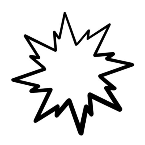 starburst template clipart best
