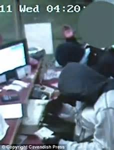 teenage robbers who raided garage caught after saving