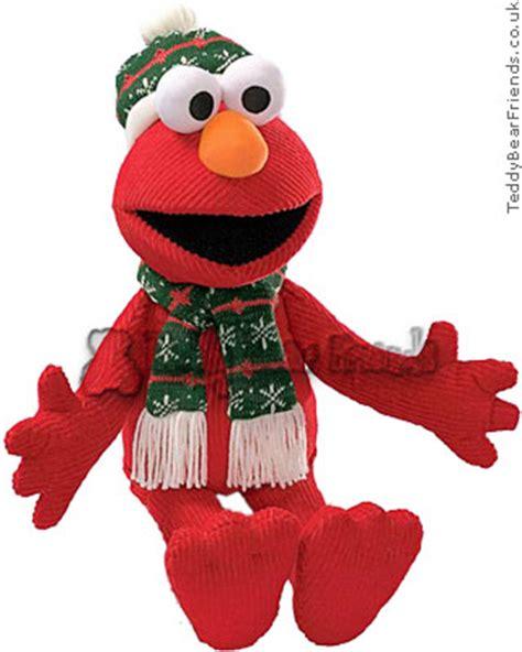christmas elmo gund teddy bear friends