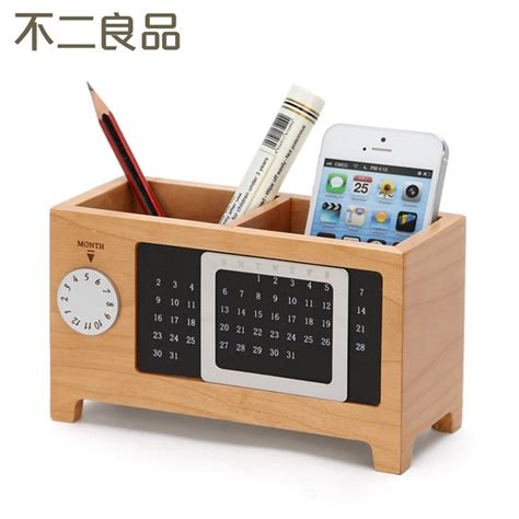 Creative Desk Accessories Aliexpress Buy Wooden Pen Creative Fashion Office Supplies Stationery Desk Box Wood