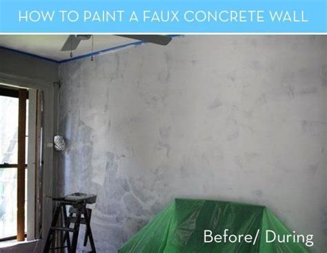 painting on concrete wall how to paint a faux concrete wall that looks like the real