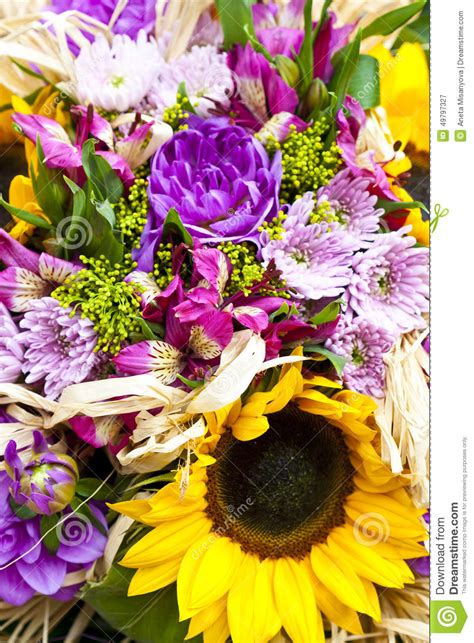 colorful spring flowers bouquet bouquet of spring flowers stock photo image 49797327