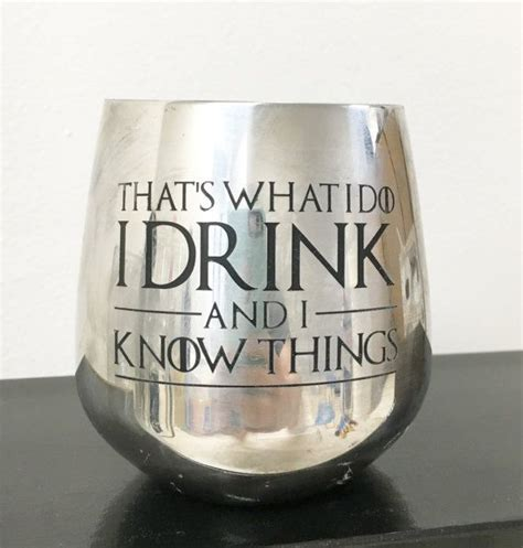game  thrones stainless steel wine glass