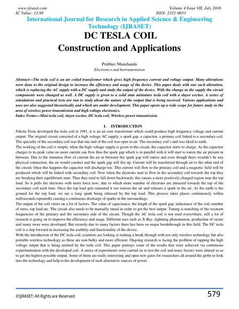 tesla application dc tesla coil construction and applications pdf