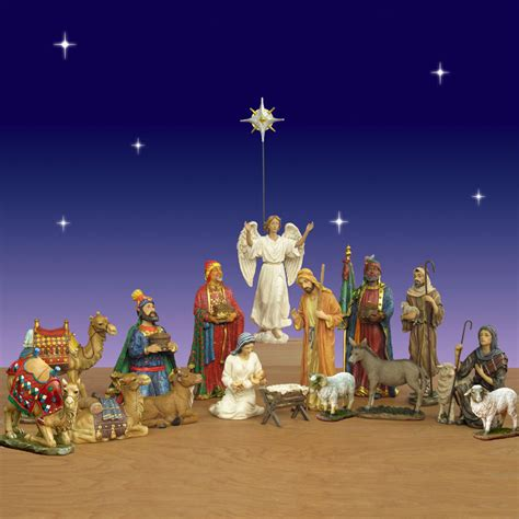 three kings real life nativity set 17 pc 14 quot scale