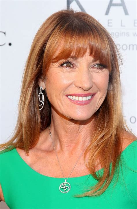 hairstyles with bangs for 60 jane seymour long straight hairstyle with bangs for women