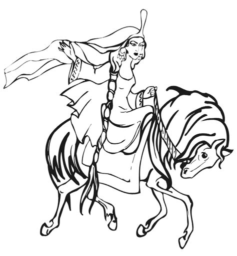 coloring pages of horse riding princess riding horse coloring page coloring pages