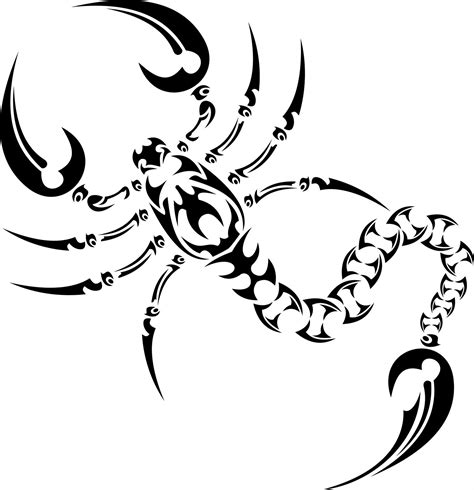 scorpio tribal tattoos finder ideas lettering gallery scorpion