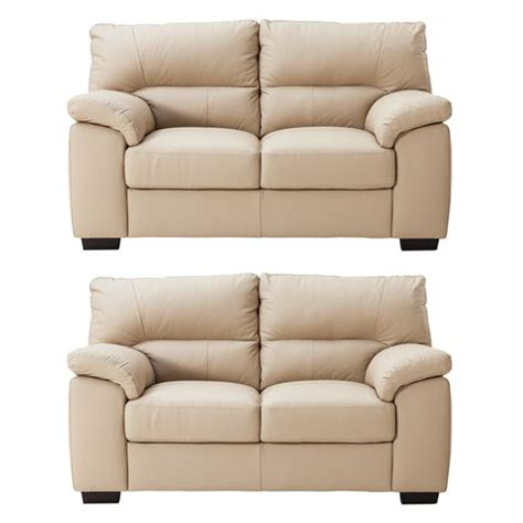 argos leather sofas buy collection piacenza pair of 2 seater leather sofas