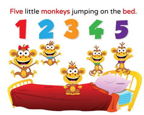 4 little monkeys jumping on the bed kindergarten ndl esl classrooms