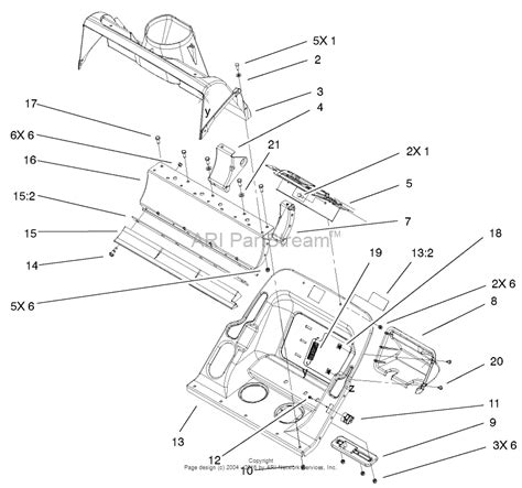 Sn Lower 1 toro 38602 snow commander snowthrower 2001 sn 210000001 210999999 parts diagram for lower