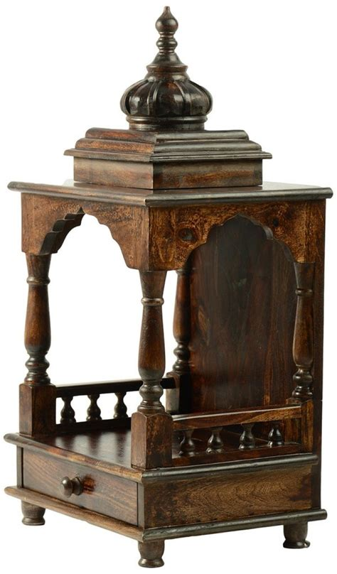 sheesham wood temple rightwood furniture medium size