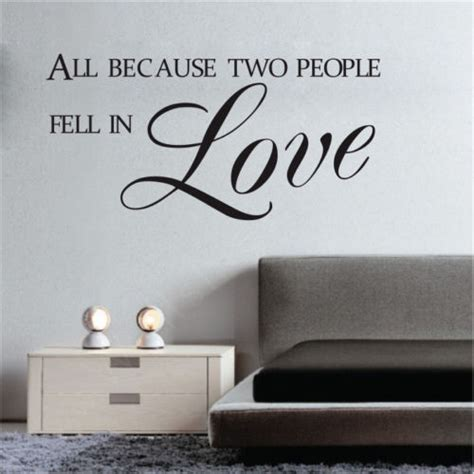 All Because Two People Fell In Love Wall Sticker all because two people fell in love quote wall sticker