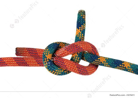 isolated sheet bend knot i1679411 at featurepics