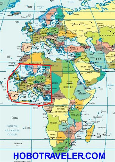 map of europe and africa with countries africa countries looks small africa map compared to