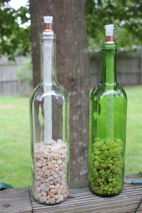 wine bottle tiki torch diy magnolia diy wine bottle tiki torches