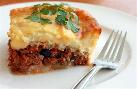 lamb moussaka greek lamb potato and eggplant casserole recipe dishmaps