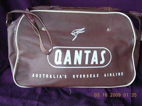 Qantas Cabin Bag by Vintage Qantas Quot Australia S Oversea Airline Quot Cabin Bag