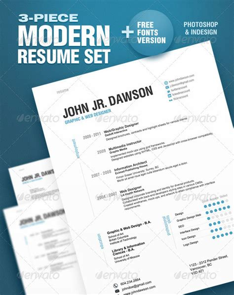 free resume templates indesign cs5 20 best resume templates web graphic design bashooka