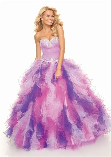 multi color prom dress gown sweetheart floor length organza multi color prom