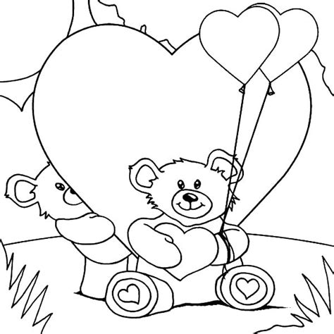i love you bear coloring pages teddy bear love coloring pages
