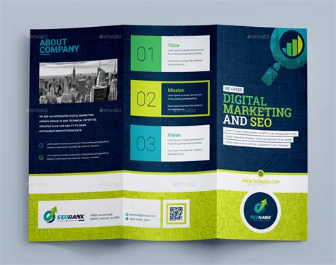 digital marketing agency template tri fold brochure template for seo search engine
