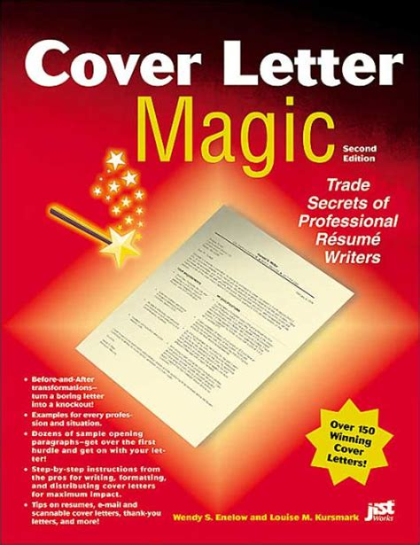 barnes and noble cover letter cover letter magic by wendy s enelow louise kursmark