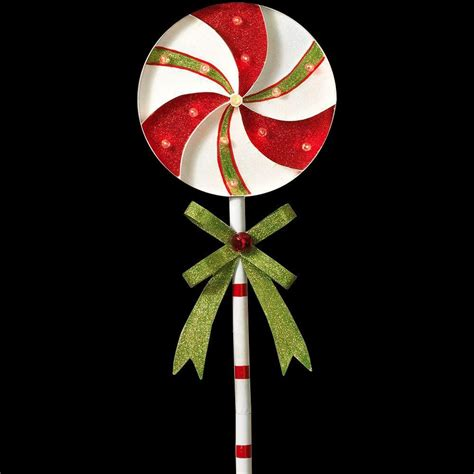 christmas yard lollipops gerson 39 in h battery operated lighted metal pinwheel lollipop yard stake 2273260hd 2b