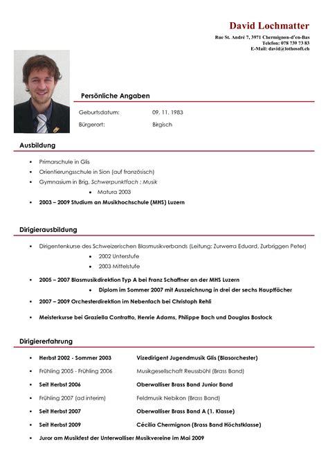 Lebenslauf Englisch Muster Schweiz Lebenslauf Lebenslauf