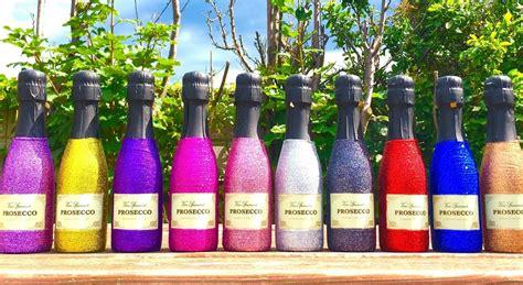 table favors 100 mini prosecco bottles bottle bling