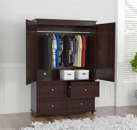 Furniture Armoire Wardrobe - wardrobe closet bedroom armoire 4 drawer 2 door furniture
