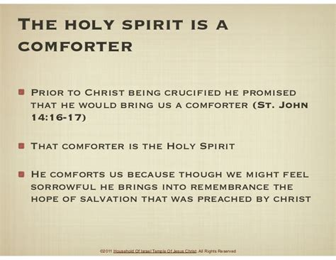 holy spirit as comforter who is the holy spirit