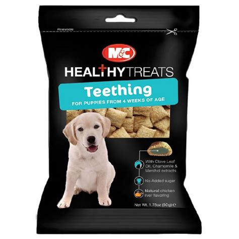 puppy teething treats chappell teething treats for puppies 50g huggle pets