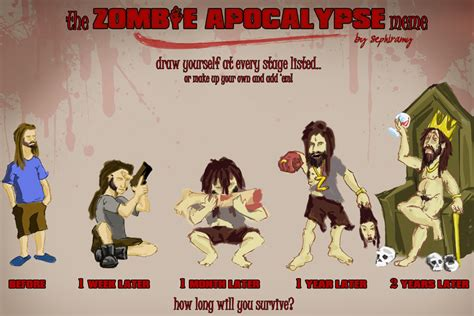 Zombie Apocalypse Meme - years later memes zombies fan art 34892088 fanpop