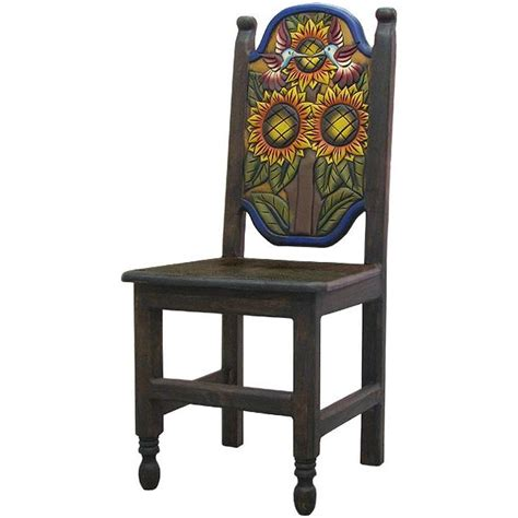 carved collection sunflower chair cc010