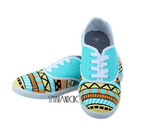 tribal patterned shoes items similar to tribal print shoes hand painted on etsy