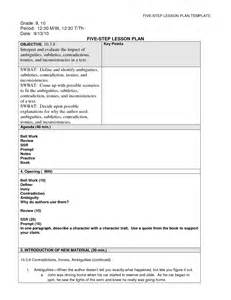 best photos of five day lesson plan template class