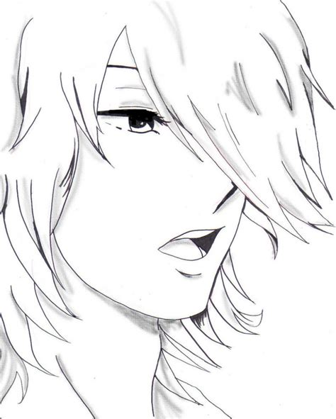 anime boy easy to draw black and white boy drawing anime easy to draw boy