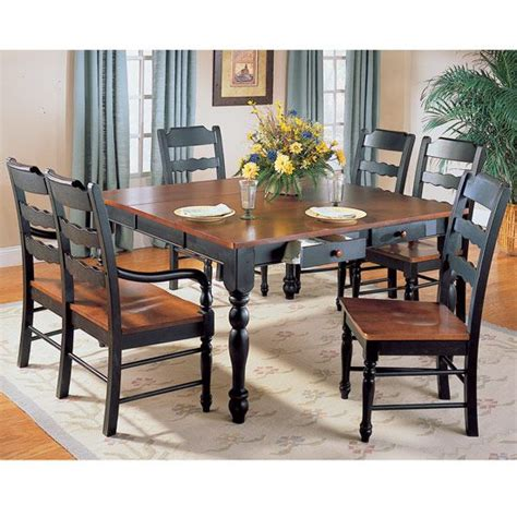 black formal dining room sets black formal dining sets sedgefield black and cherry