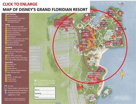 map of grand review the villas at disney s grand floridian resort spa page 5 yourfirstvisit net